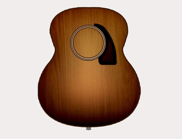 guitar illustration refreshing my hands on photoshop mahaveer 39 s blog. Black Bedroom Furniture Sets. Home Design Ideas